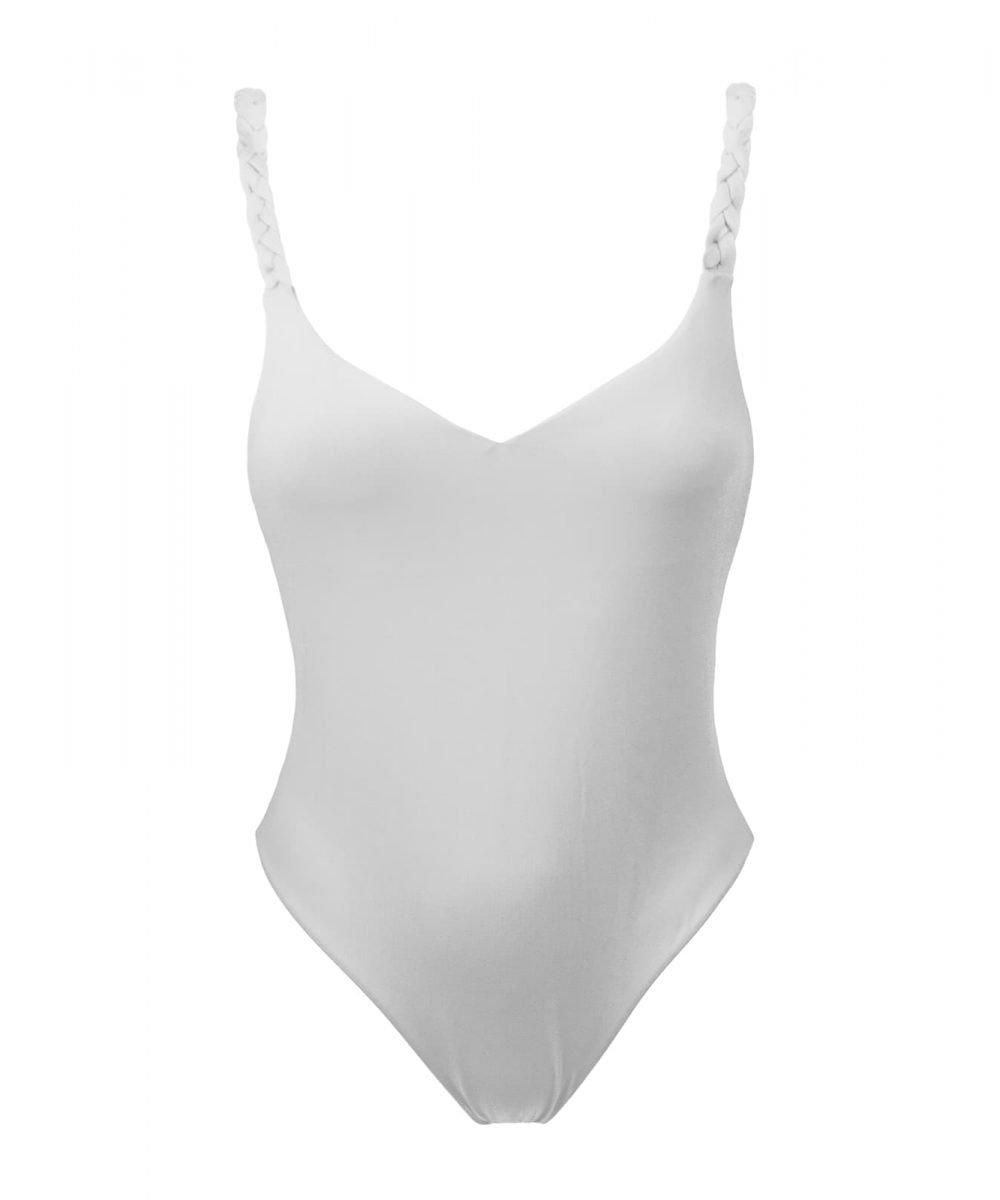 kinda 3d swimwear white vanilla one piece white swimsuit swimwear summer 2019 bikini with braids embellished bikini beachwear made in italy curvy bikini
