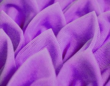 Blossomy white violet kinda 3d swimwear front