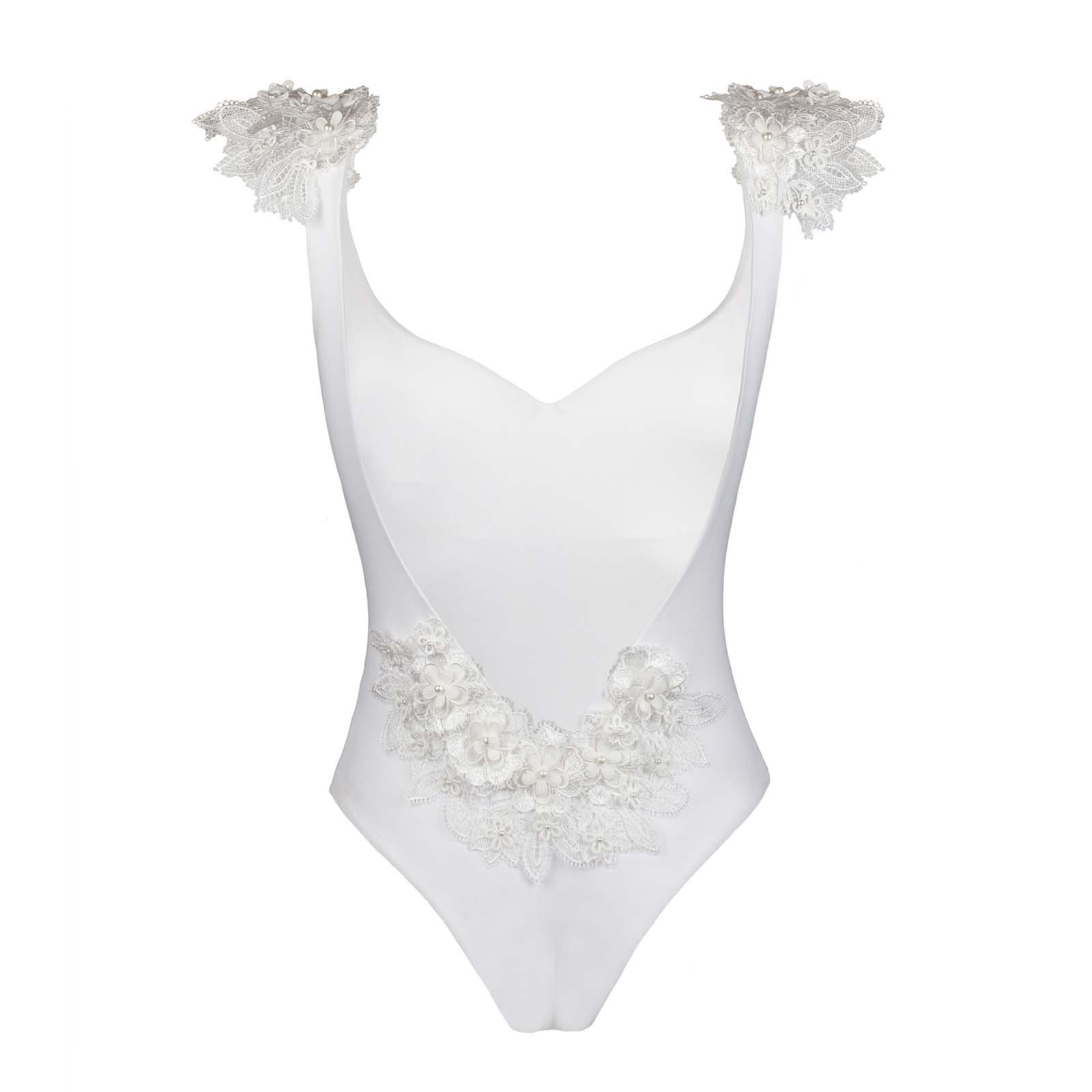 Kinda 3D Swimwear Reina white swimsuit bikini bianco con pizzo with lace_front