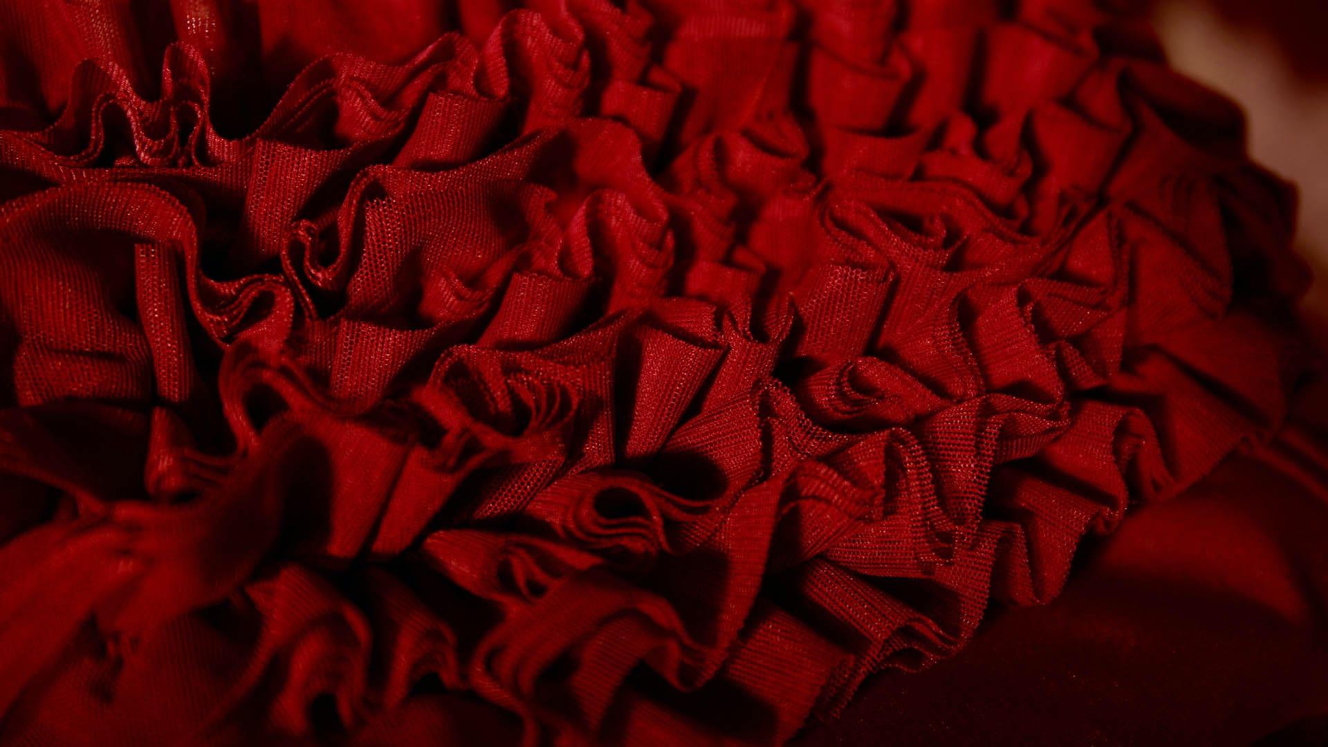 Scarlet bikini tulle 3D Rosso