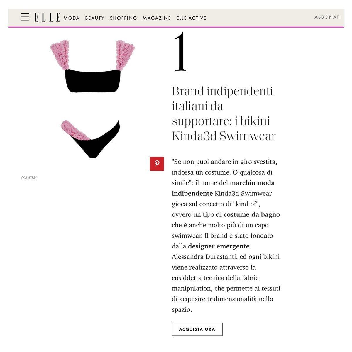 migliori aziende moda italiane best Italian fashion brands best swimwear brands migliori marchi costumi da bagno made in italy elle italy elle.it best Italian brands