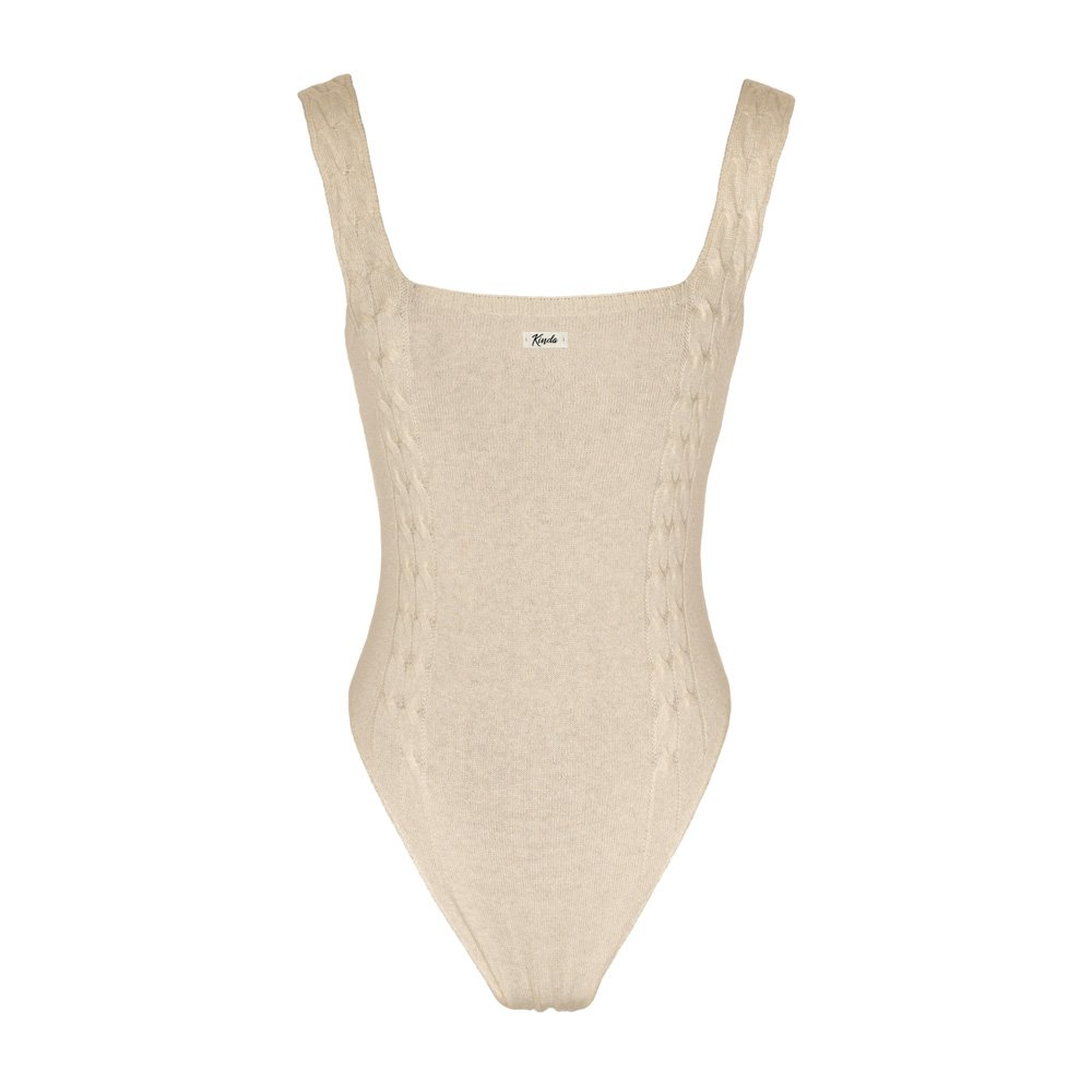 Almond knitted bodysuit loungewear kinda_back