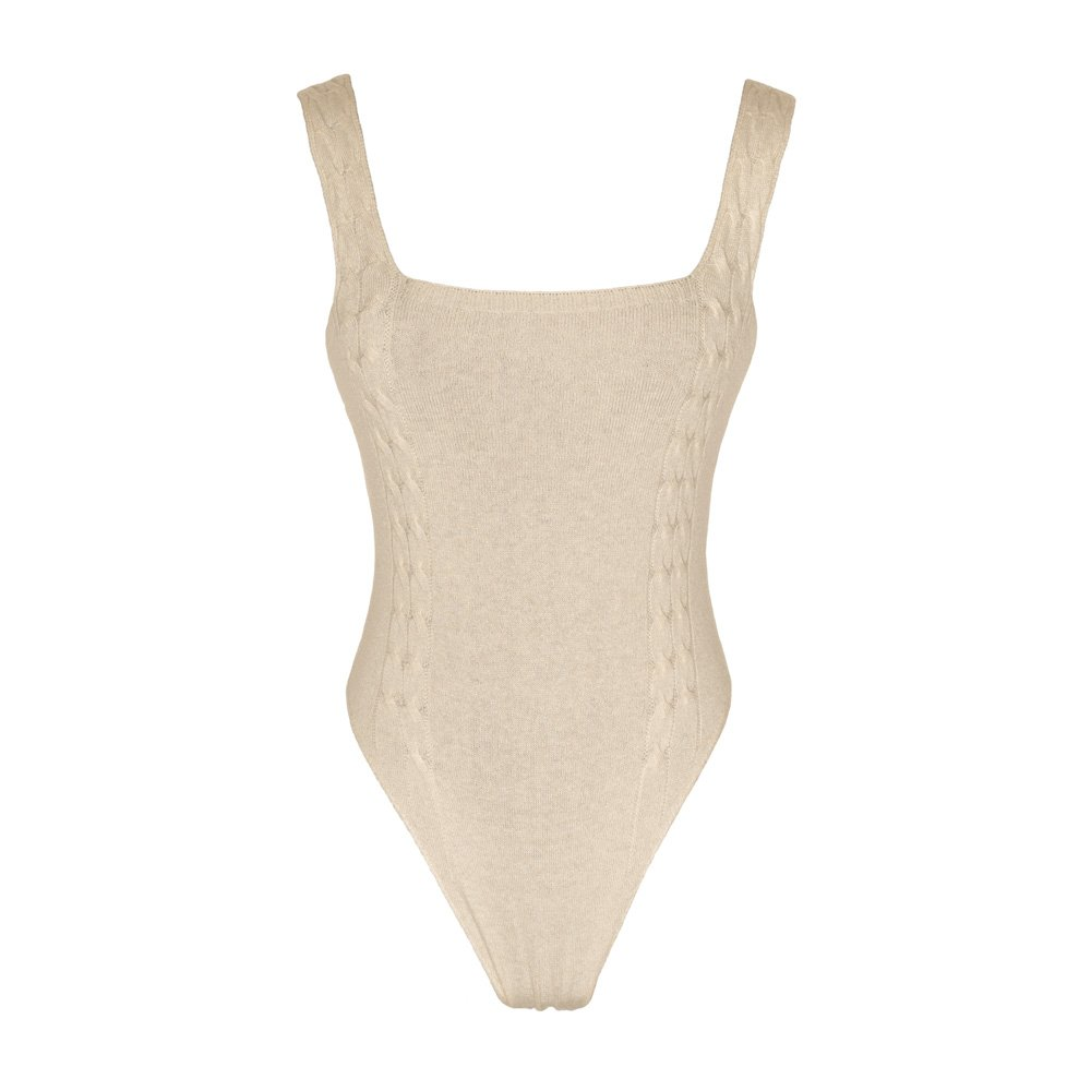 Almond knitted bodysuit loungewear kinda_front