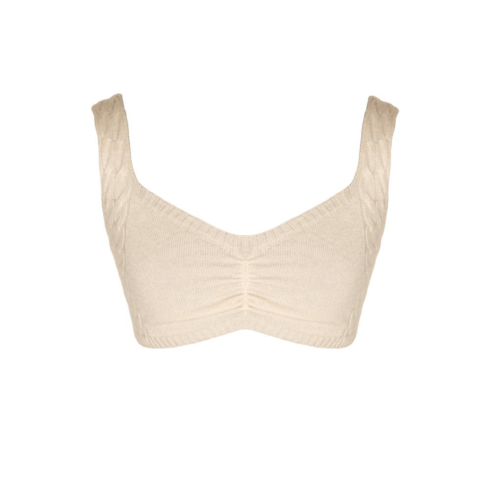 Almond knitted bralette loungewear kinda