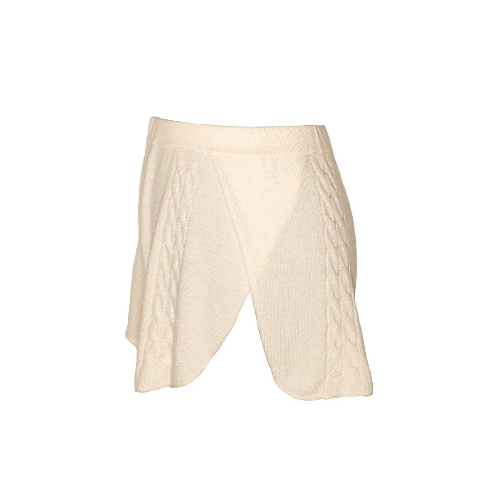 Kinda knitted cashmere shorts almond_side