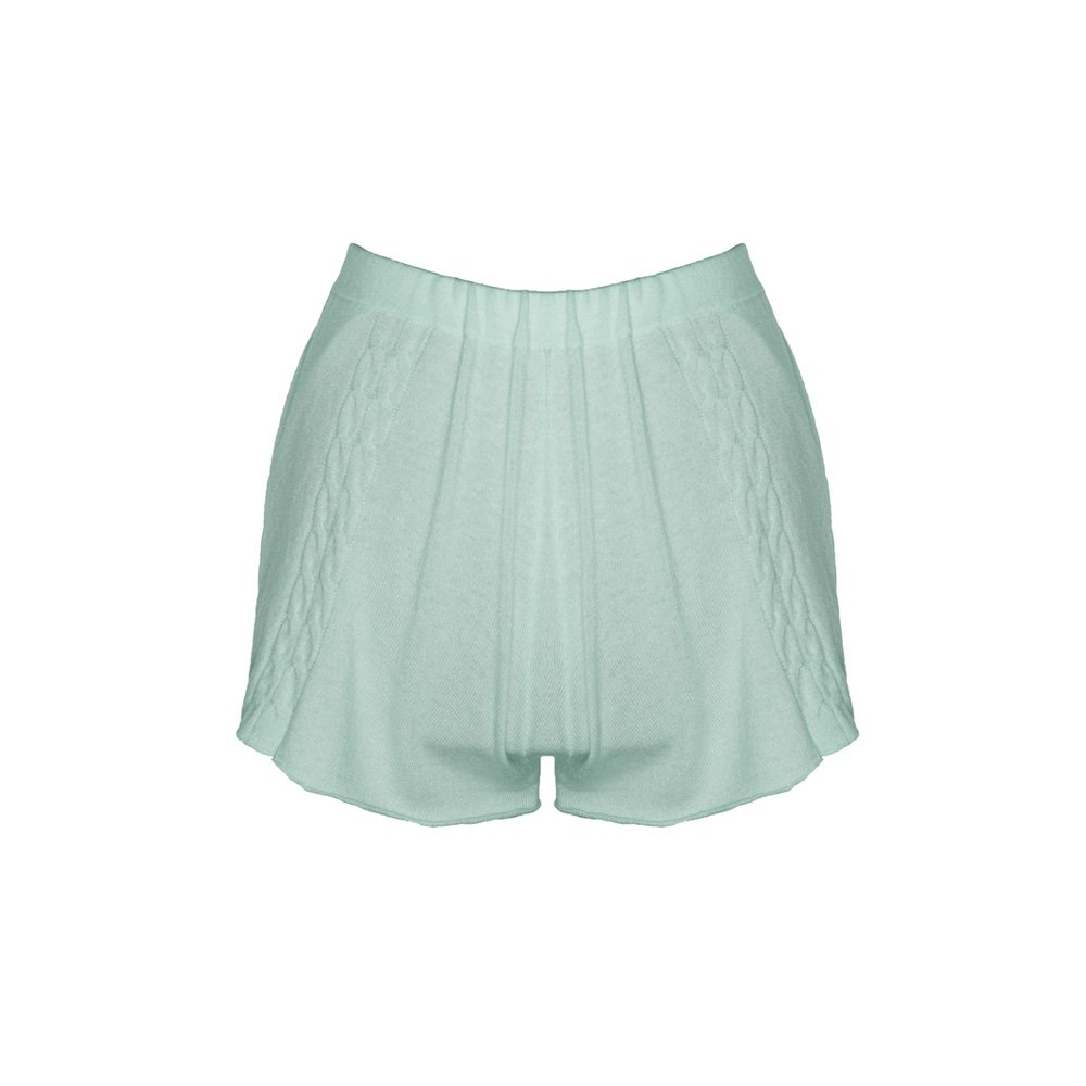 Kinda knitted cashmere shorts mint_back