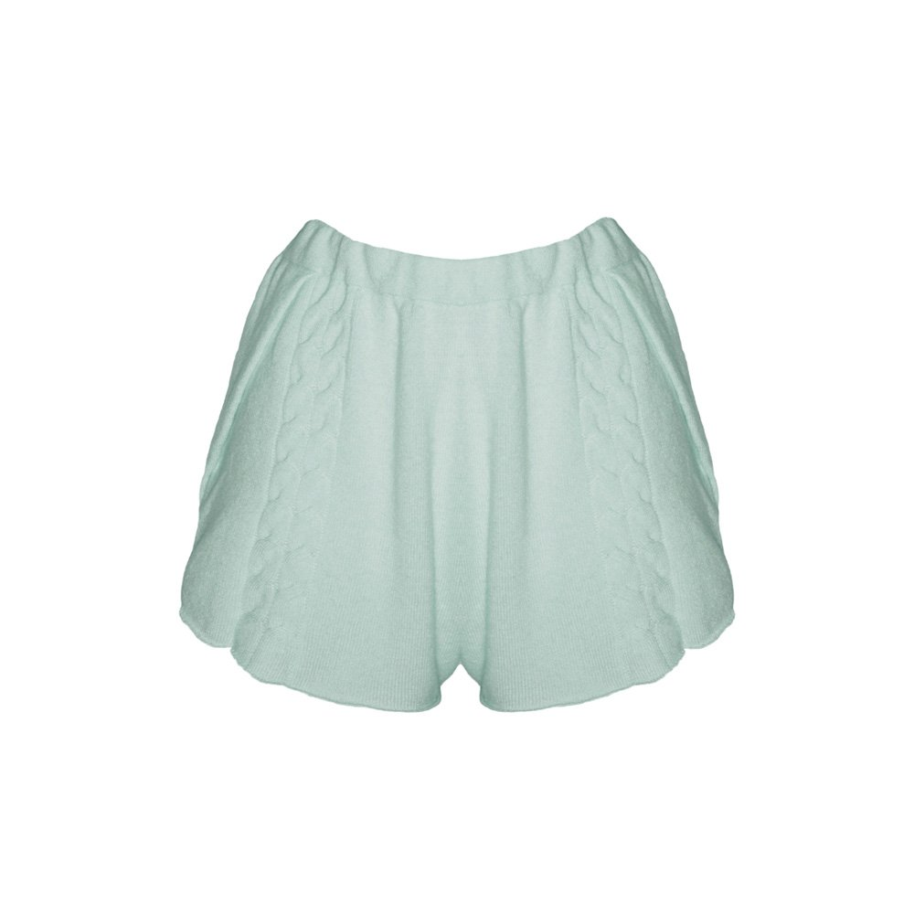 Kinda knitted cashmere shorts mint_front
