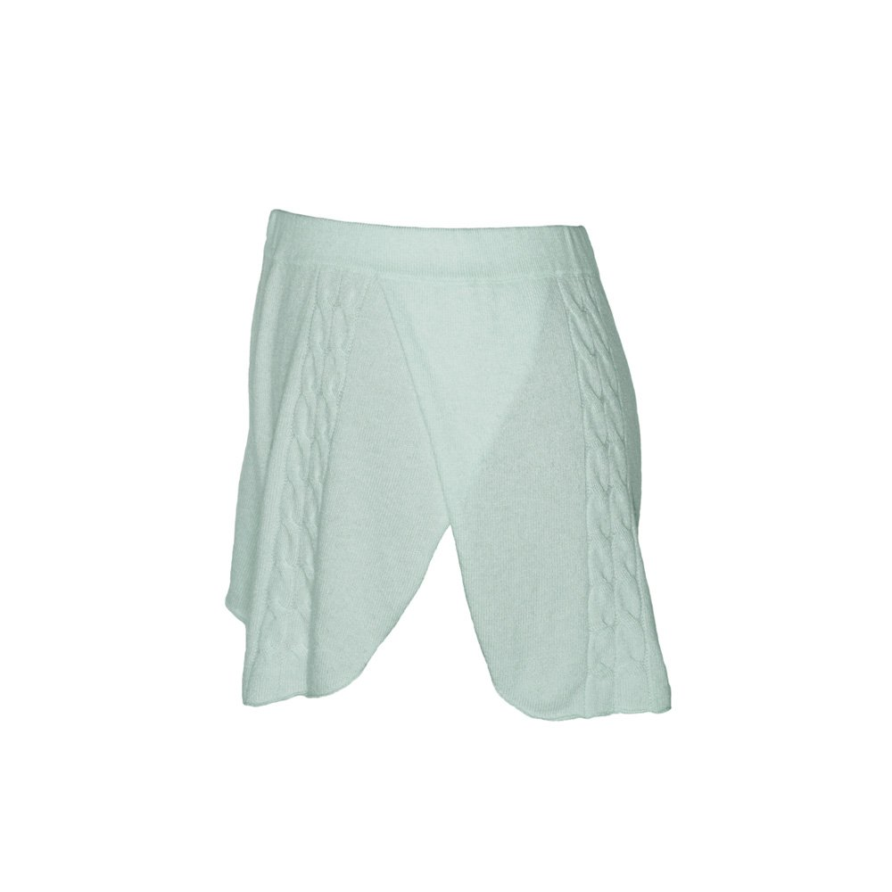Kinda knitted cashmere shorts mint_side