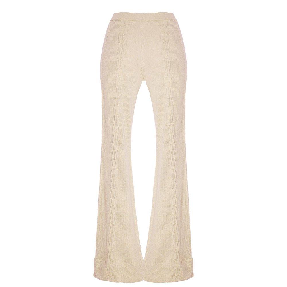 kinda wide leg lounge trousers knitted loungewear wide leg pants_back