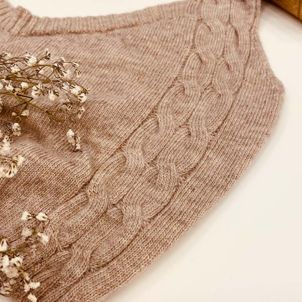 knitted bralette loungewear kinda - sand