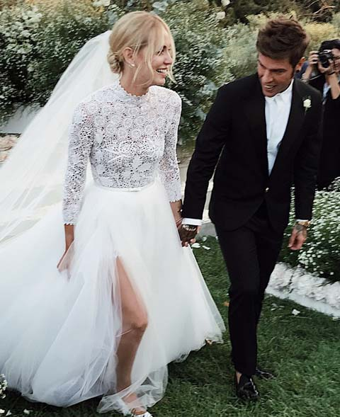 chignon chiara ferragni matrimonio wedding hairdo