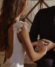 Costume intero sposa Reìna white lace swimsuit bride to be