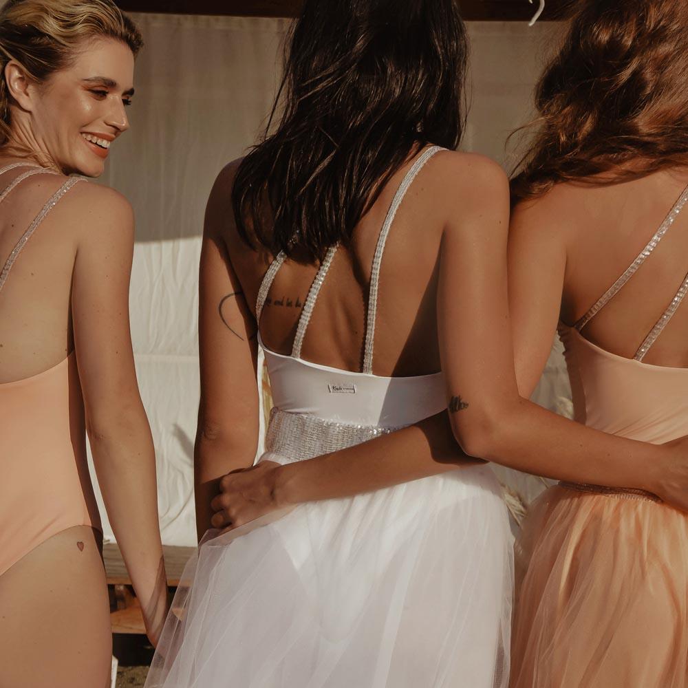 Etoile costume monospalla bianco sposa