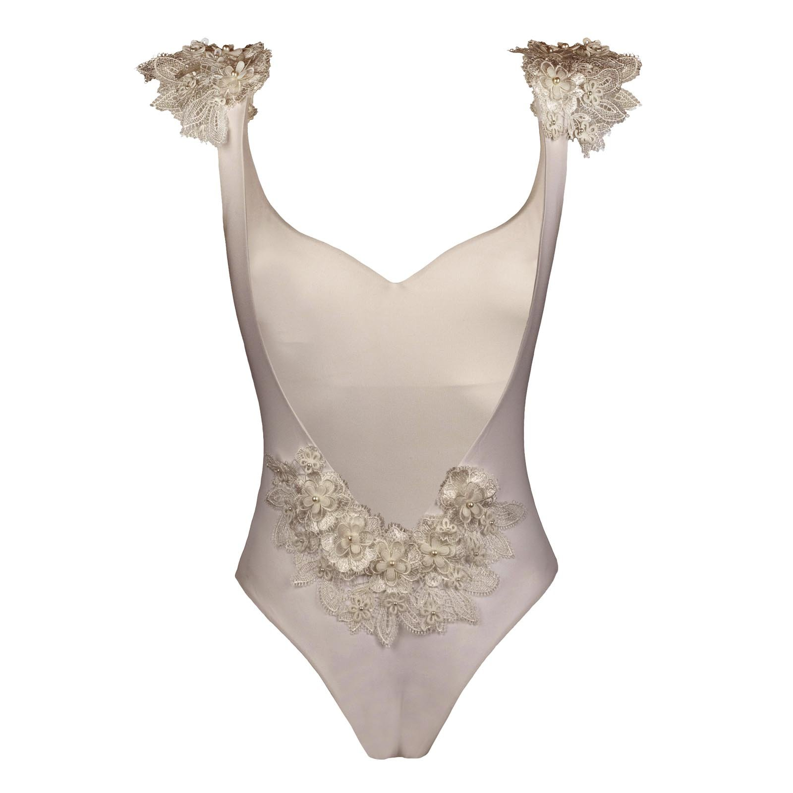 Reìna almond swimwsuit with 3d lace kinda swimwear_back
