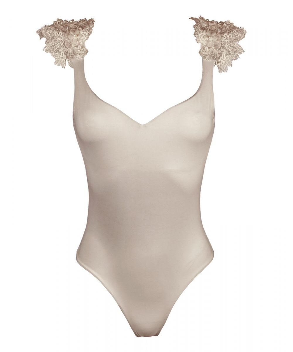 Reìna almond swimwsuit with 3d lace kinda swimwear_front