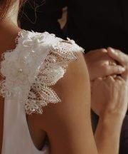 White bride swimsuit bachelorette party bikini beach wedding dress