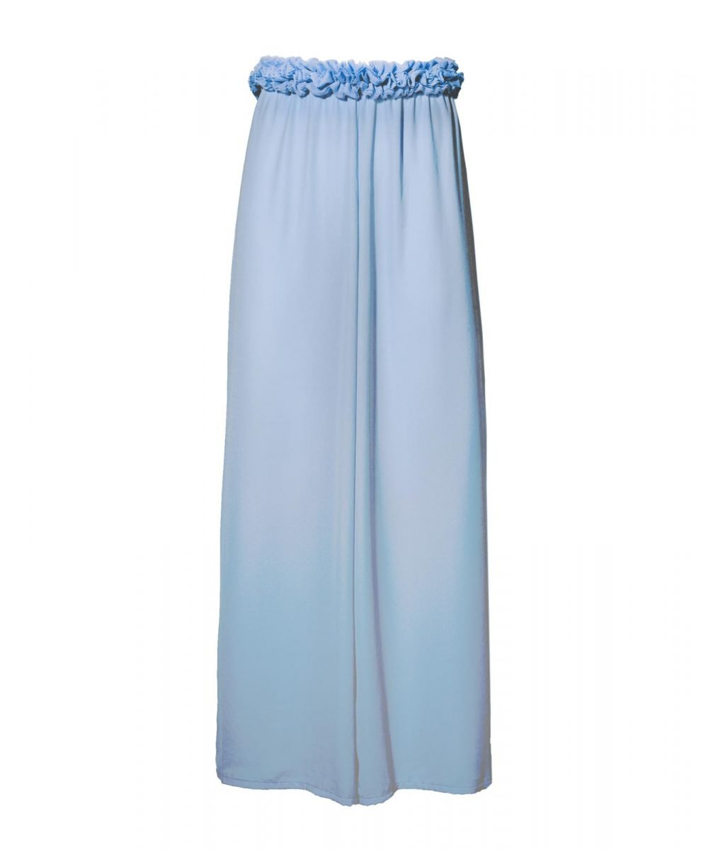Blink sky blue georgette trousers kinda 3d swimwear