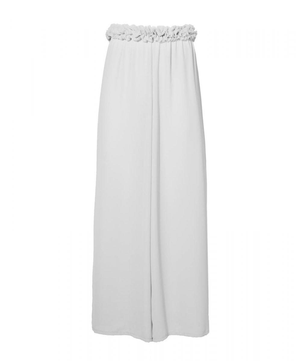 Blink white georgette trousers kinda 3d swimwear