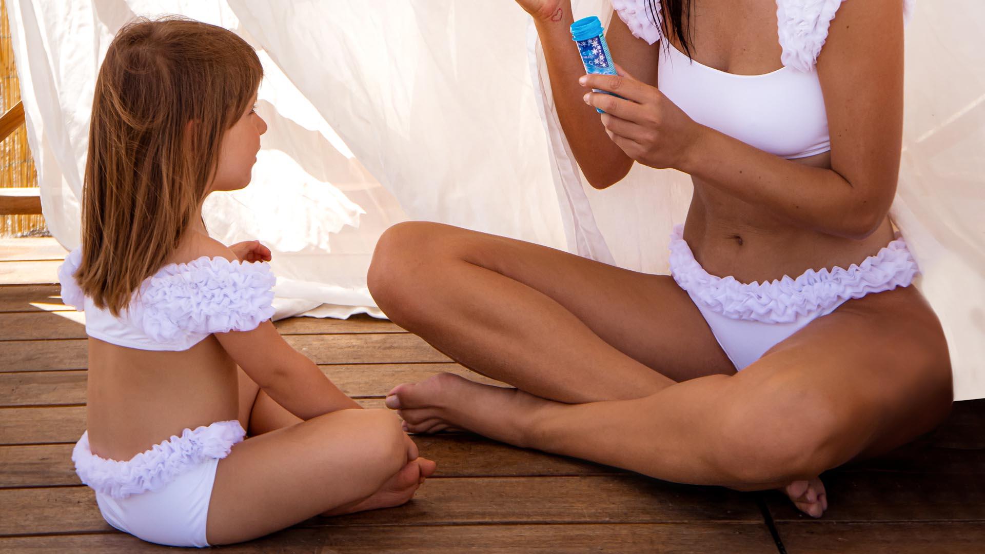 Baby Scarlet 3D tulle bikini