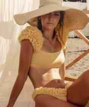 Kinda 3D Swimwear scarlet yellow bikini costume bikini giallo